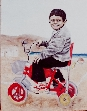 Innocence painting by Khalda Hamouda